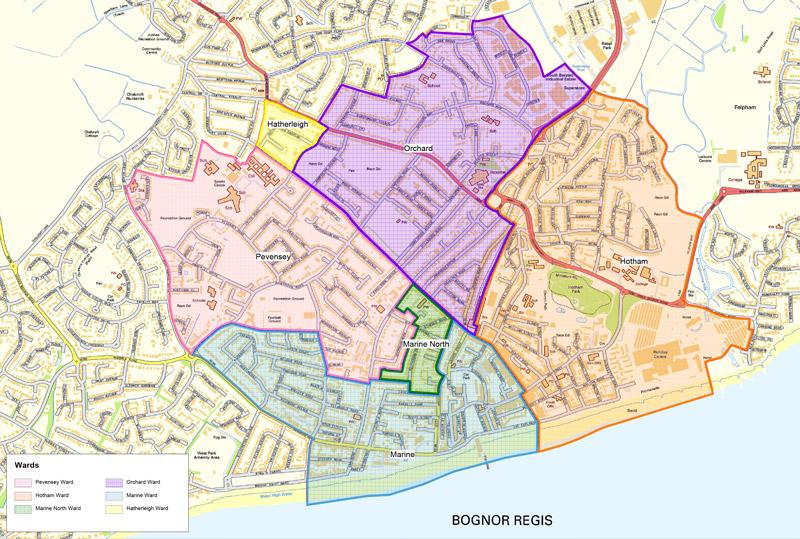 Wards Bognor Regis Town Council