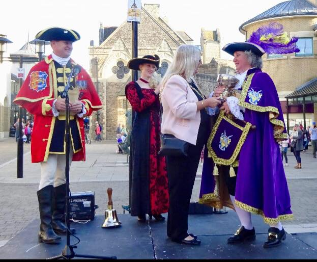 Best dressed town crier trophy presentation