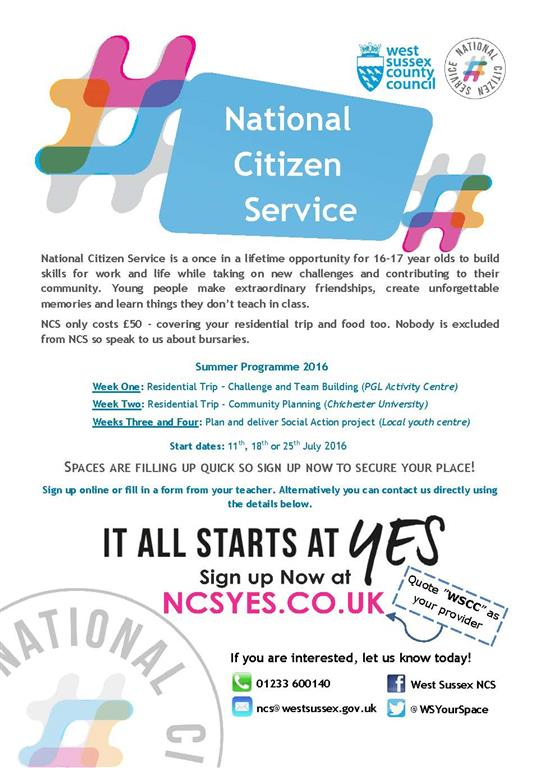 National Citizen Service Poster