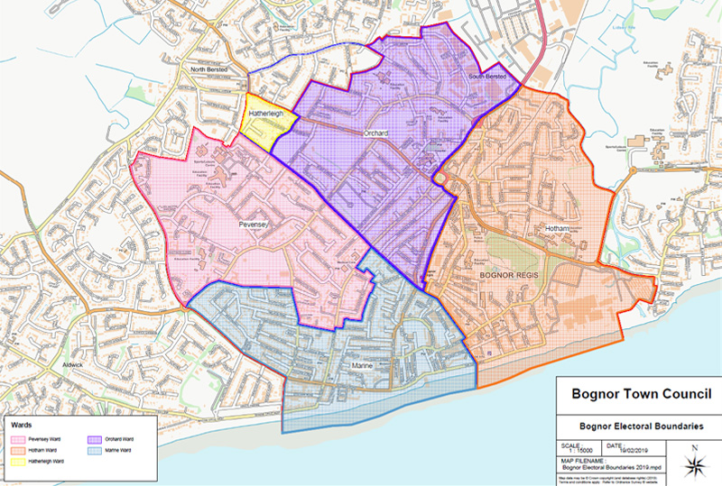 map of bognor regis ward boundaries