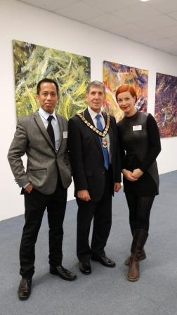 Mayor with Artists